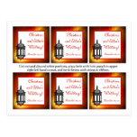 El favor marca la linterna con etiqueta marroquí postal