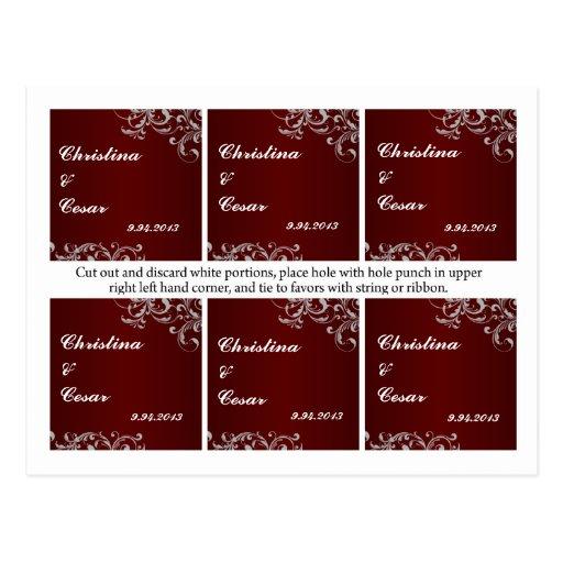 El favor marca sangre blanca roja de los remolinos tarjeta postal