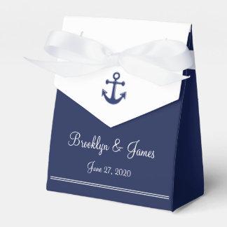 El favor náutico del boda de los azules marinos caja para regalos de fiestas