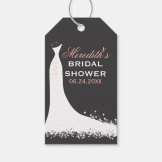 El favor nupcial de la ducha marca el vestido de