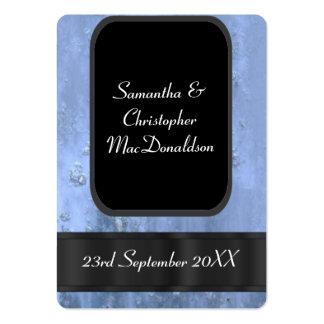 El favor oxidado azul del boda del metal le tarjetas de visita grandes