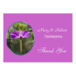 El favor púrpura bonito del boda de la flor le plantillas de tarjetas personales