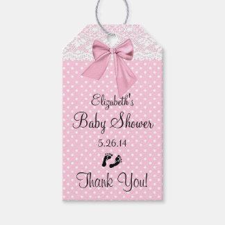 El favor rosado de la huésped de la fiesta de etiquetas para regalos