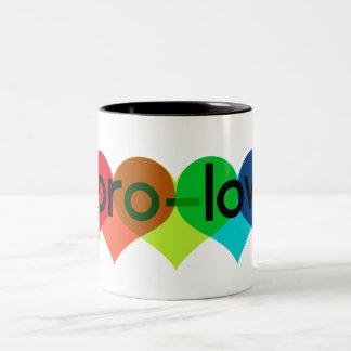 El favorable amor dice no apoyar 8 h8 taza de café de dos colores
