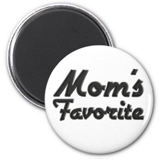 El favorito de la mamá imán redondo 5 cm