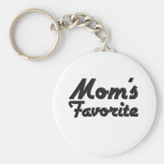 El favorito de la mamá llavero redondo tipo pin