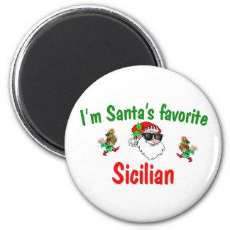 El favorito de Santa siciliano Imán Redondo 5 Cm