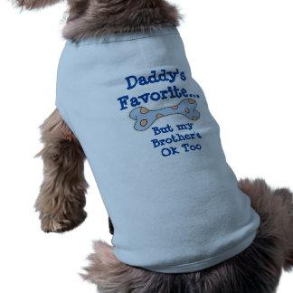 El favorito del papá playera sin mangas para perro