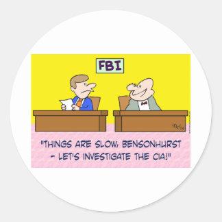 el fbi investiga a espías de la Cia Pegatinas Redondas