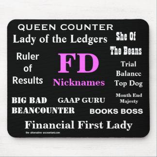 El FD femenino apoda a director financiero diverti Tapete De Ratones
