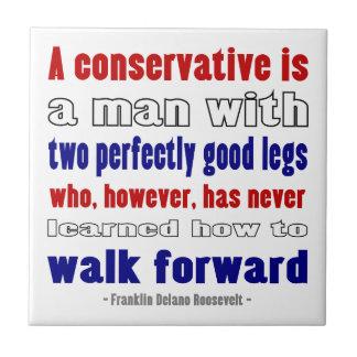 El FDR define a los conservadores más oscuros Azulejo Cuadrado Pequeño