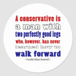 El FDR define a los conservadores más oscuros Pegatina Redonda