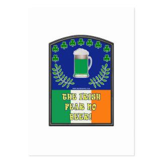El Feer irlandés ninguna cerveza Tarjetas De Visita