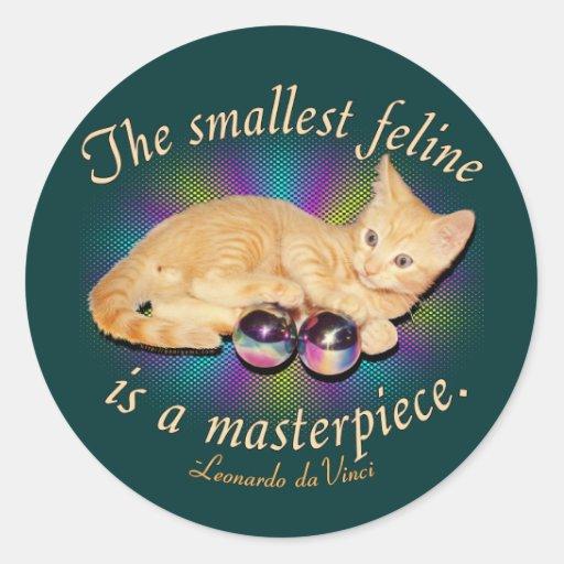 El felino más pequeño pegatina redonda