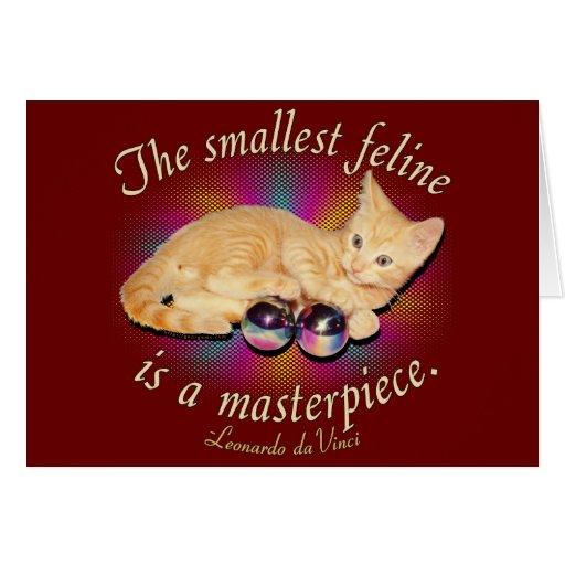 El felino más pequeño tarjeta de felicitación