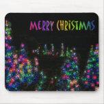 El feliz árbol de navidad enciende Mousepad Tapetes De Raton