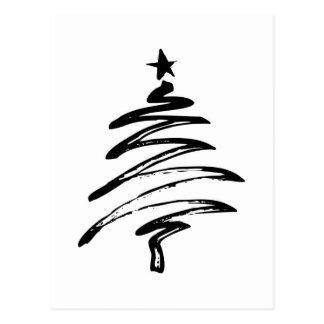 El feliz árbol del día de fiesta del navidad adorn tarjetas postales
