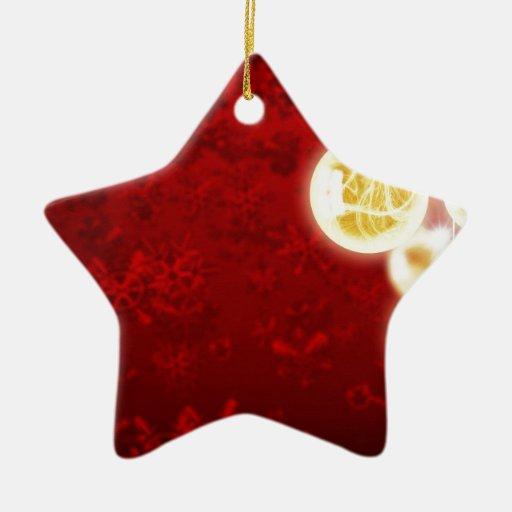 El feliz árbol del día de fiesta del navidad adorno navideño de cerámica en forma de estrella