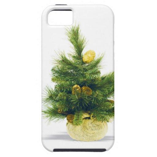 El feliz árbol del día de fiesta del navidad iPhone 5 funda