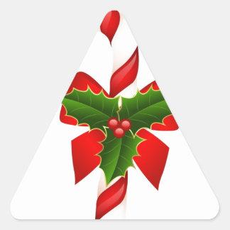 El feliz árbol del día de fiesta del navidad colcomanias trianguladas