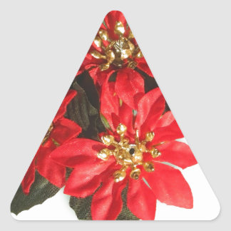 El feliz árbol del día de fiesta del navidad calcomanías trianguloes