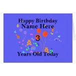 El feliz cumpleaños 3 años añade nombre felicitaciones