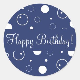El feliz cumpleaños burbujea sello del pegatina