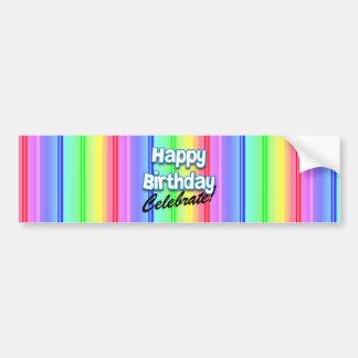 El feliz cumpleaños celebra a la pegatina para el  pegatina para auto