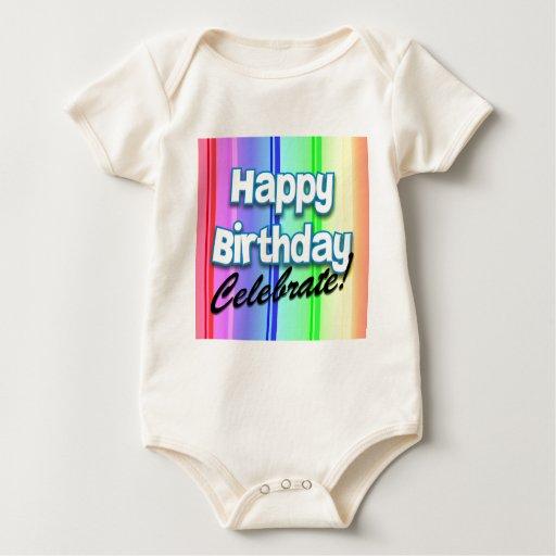 El feliz cumpleaños celebra la camiseta mamelucos