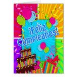 El ¡Feliz Cumpleaños con la diversión colorea la Tarjetas