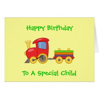 El feliz cumpleaños del juguete de los niños tarjeta de felicitación
