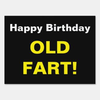 El feliz cumpleaños divertido viejo Fart texto de Señal