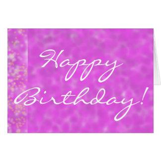 El feliz cumpleaños en Wysteria florece tarjeta de