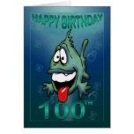 El feliz cumpleaños envejece el 100o cumpleaños de felicitacion