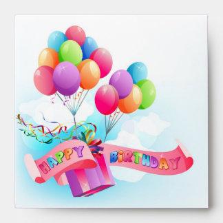El feliz cumpleaños envuelve sobre