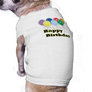 El feliz cumpleaños hincha D3 Playera Sin Mangas Para Perro