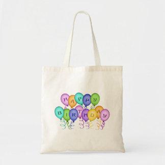 El feliz cumpleaños hincha el bolso de la lona bolsa de mano