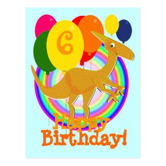 El feliz cumpleaños hincha la postal de 6 naranjas