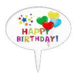 El feliz cumpleaños hincha las estrellas decoración de tarta