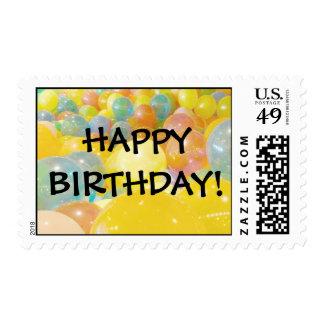 El feliz cumpleaños hincha sellos