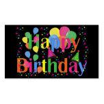 El feliz cumpleaños hincha tarjetas de visita