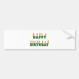 El feliz cumpleaños mira al trasluz a la pegatina  pegatina para auto