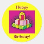 El feliz cumpleaños presenta al pegatina de la