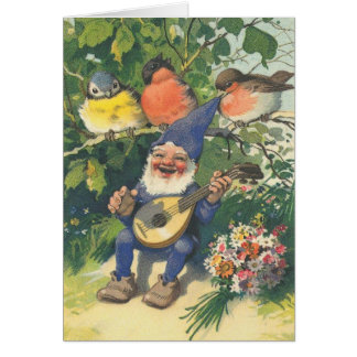 El feliz gnomo musical tarjeta