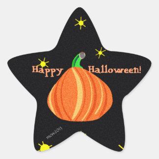 El feliz Halloween de la calabaza de Lil Colcomanias Forma De Estrellas