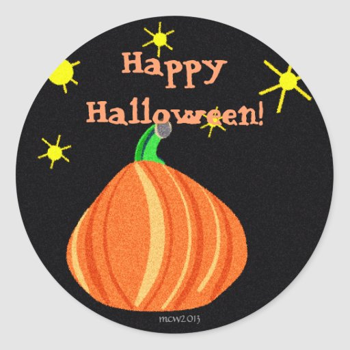 El feliz Halloween de la calabaza de Lil Pegatinas