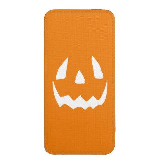 El feliz Halloween Jack O'Lantern hace frente Funda Acolchada Para iPhone