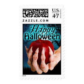 El feliz Halloween sella el rojo Apple del veneno Sello Postal