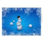 El feliz muñeco de nieve felicitacion