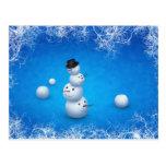 El feliz muñeco de nieve postales